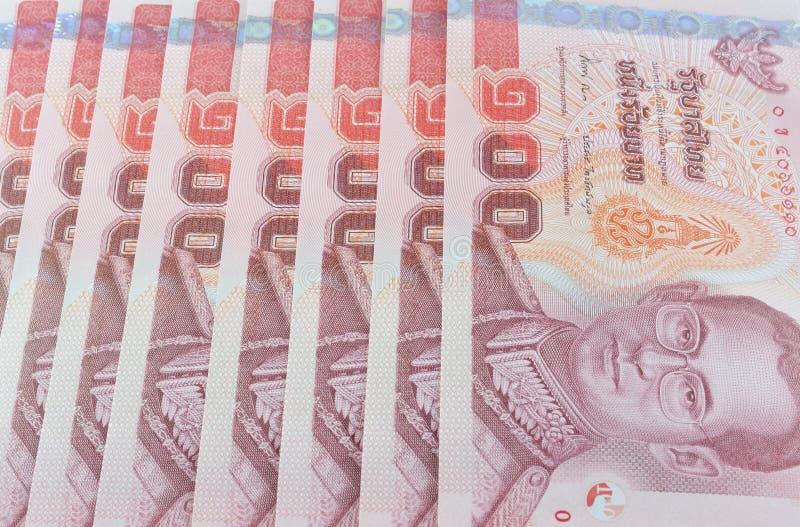 Precio de los billetes de banco de Tailandia de ciento aislado en blanco fotos de archivo libres de regalías