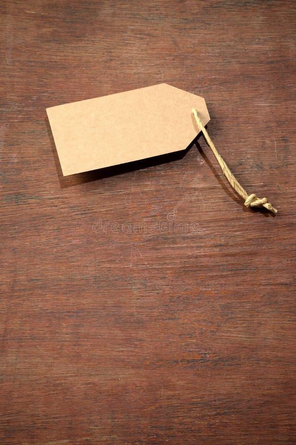 Precio del papel de Brown imágenes de archivo libres de regalías