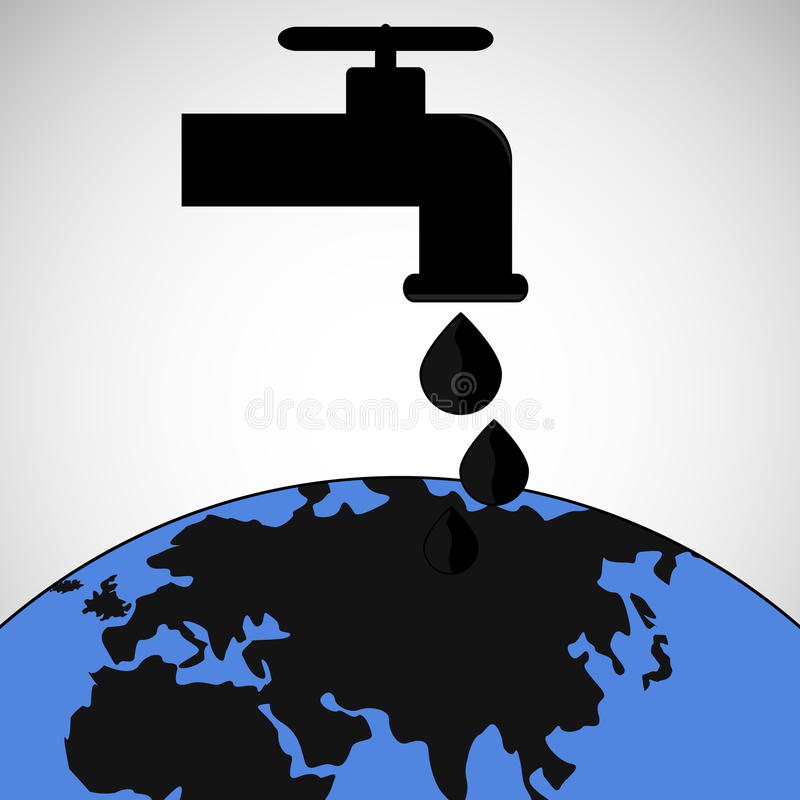 Precio del petróleo stock de ilustración
