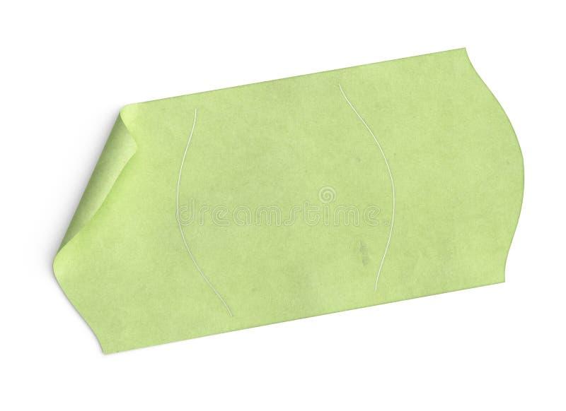 Precio, etiqueta engomada verde del espacio en blanco