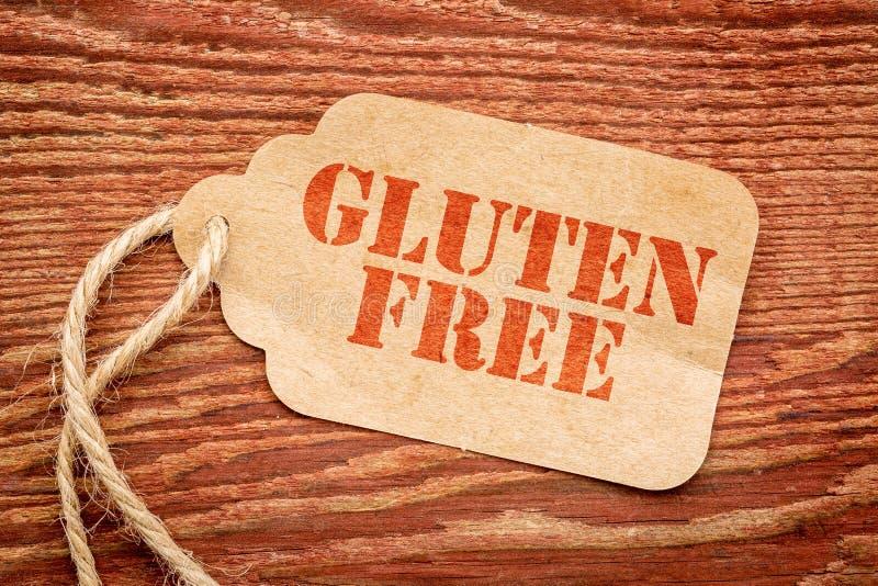 Precio libre del tage del gluten fotos de archivo libres de regalías