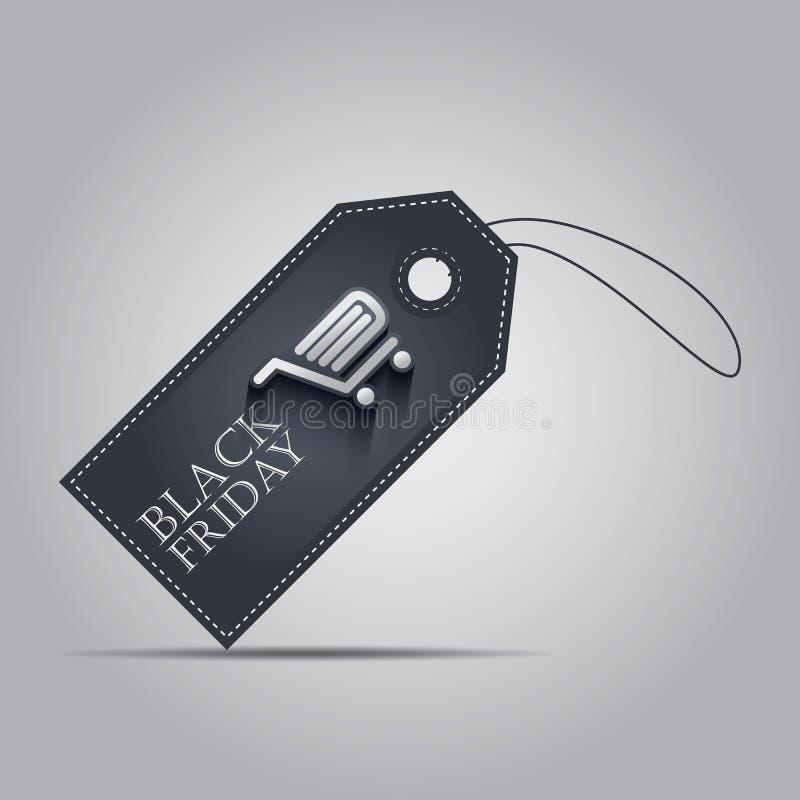 Precio que hace compras de las ventas de Black Friday EPS10 stock de ilustración