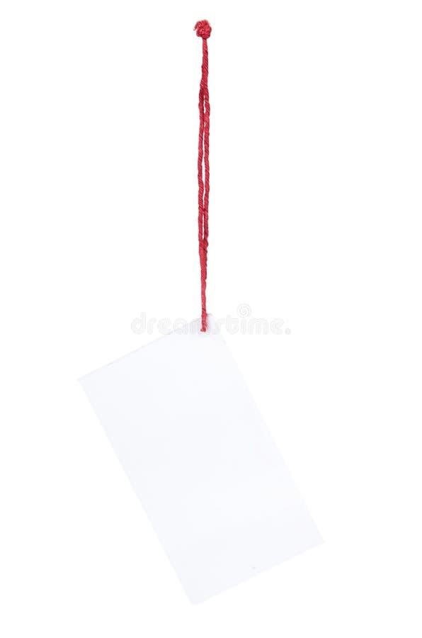 Precio vacío con la secuencia roja, aislada en el fondo blanco imagen de archivo libre de regalías