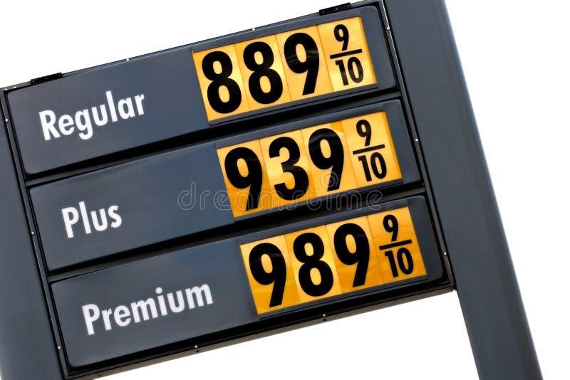 Precios de la gasolina mañana fotografía de archivo