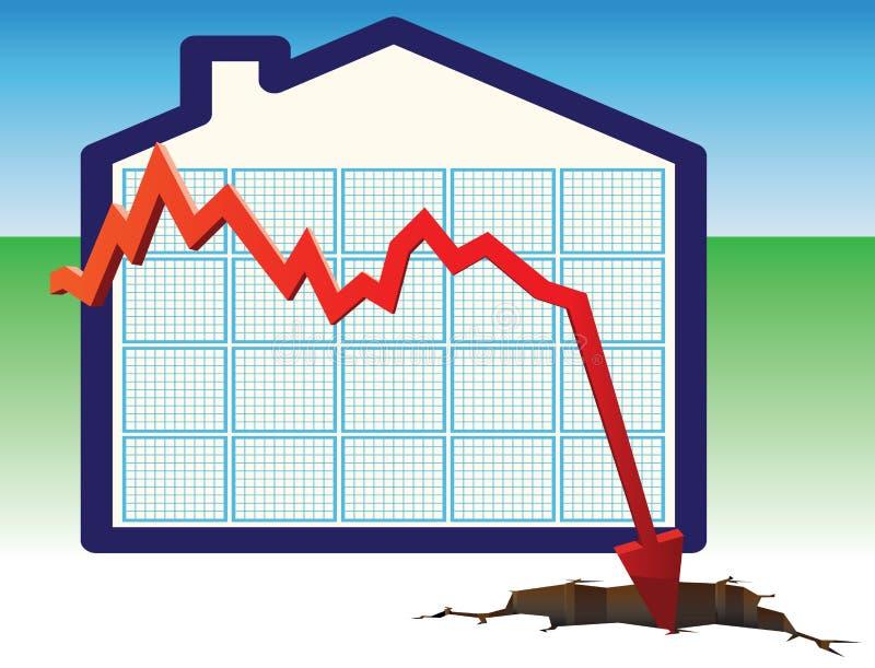 Precios de la vivienda a través del suelo stock de ilustración