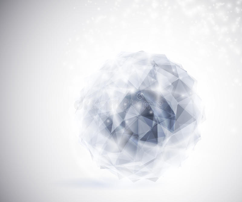 Precious crystal. In the shape a sphere. Eps 10 vector illustration
