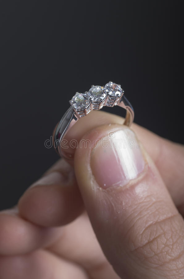 Precious diamonds ring royalty free stock photography