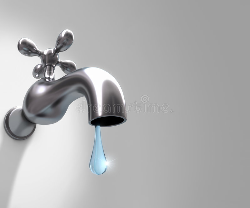The Precious Drop of Water stock illustration