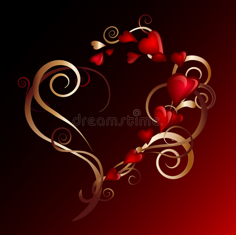 Precious heart stock illustration