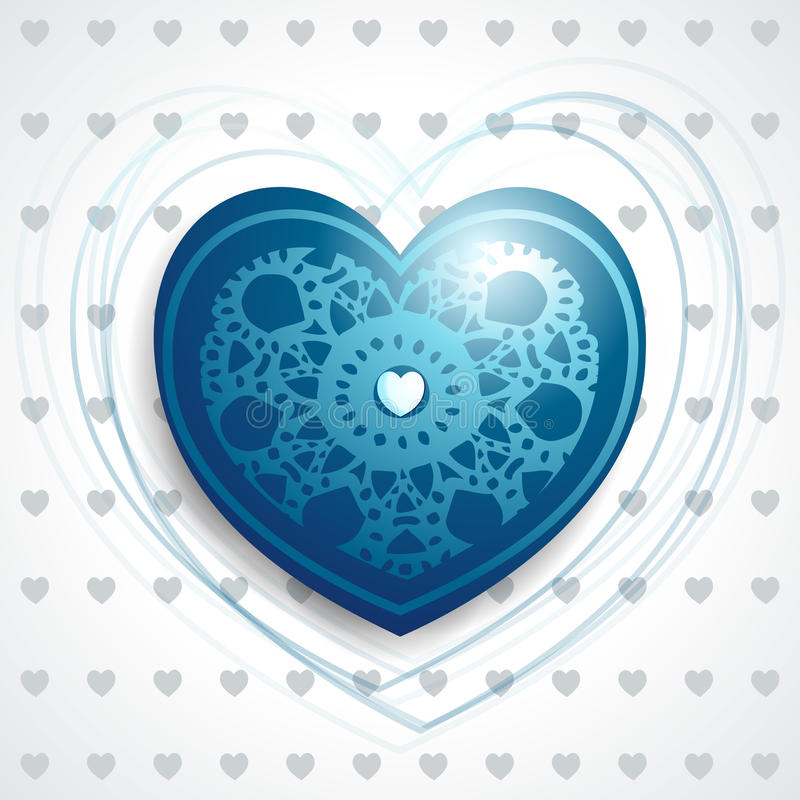 Download Precious heart in blue stock vector. Illustration of background - 24708939