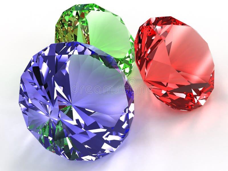 Precious Stones Of Different Colors №5 Stock Illustration ...