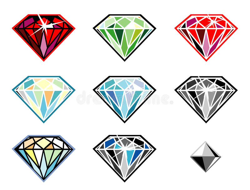 Download Precious Stones With Sparkle Stock Vector - Image: 10757441