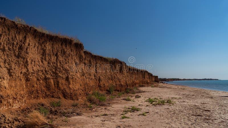 Precipicio en el mar de Azov, paisaje foto de archivo libre de regalías
