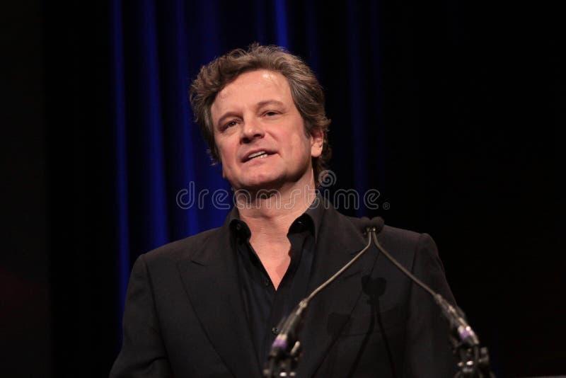 Precipitação, Colin Firth, Geoffrey Rush imagens de stock