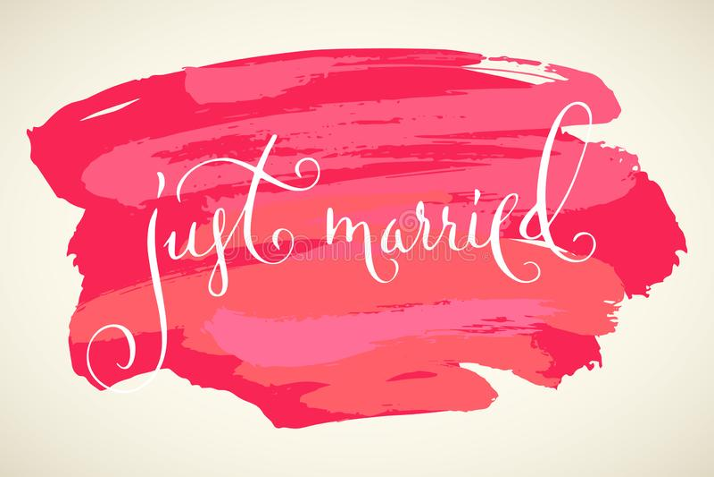 Precis gift gifta sig modern kalligrafi stock illustrationer