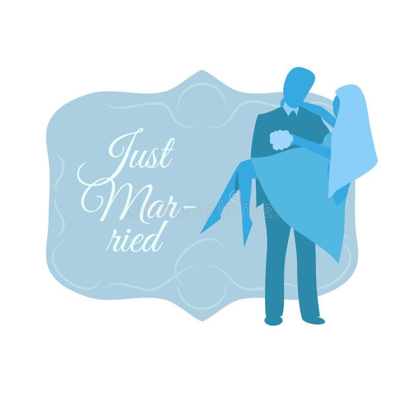 Precis gifta man- och kvinnakonturer royaltyfri illustrationer