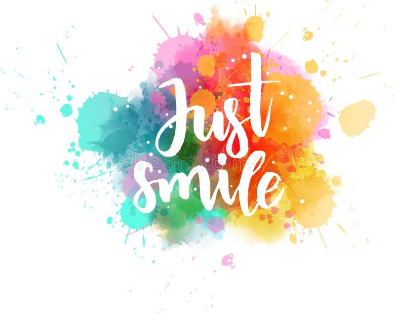 Precis leendebokstäver på vattenfärgfärgstänk stock illustrationer