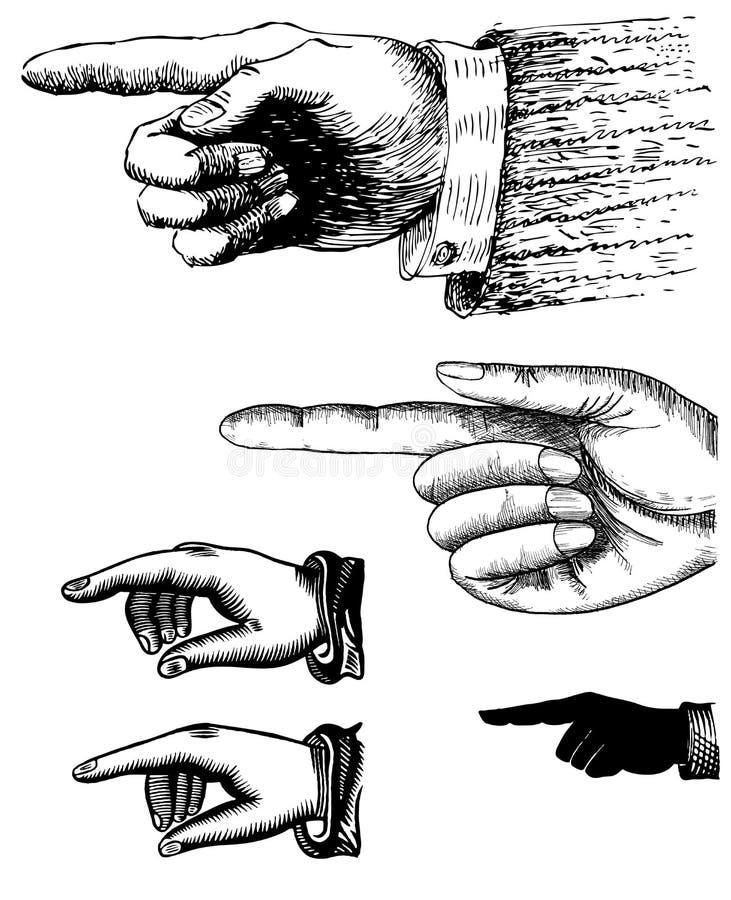 Precisazione della mano (dito) illustrazione di stock