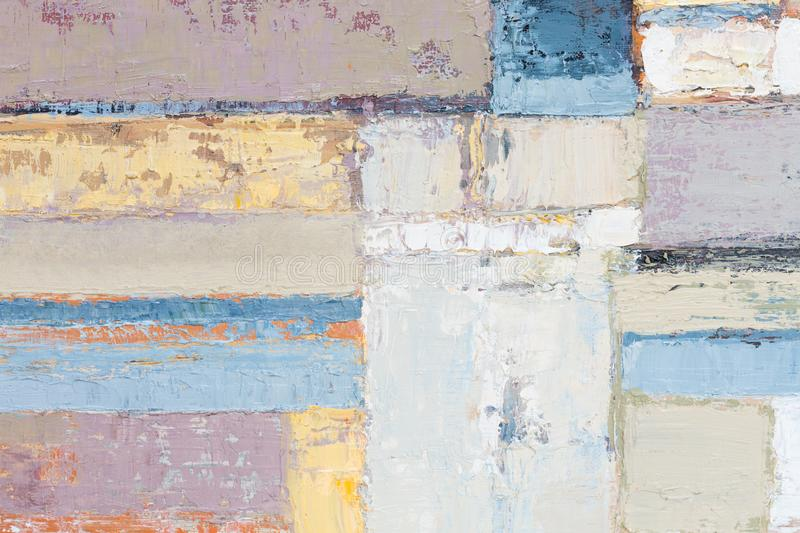 Precise abstract painting for your ideal interior. royalty free stock images