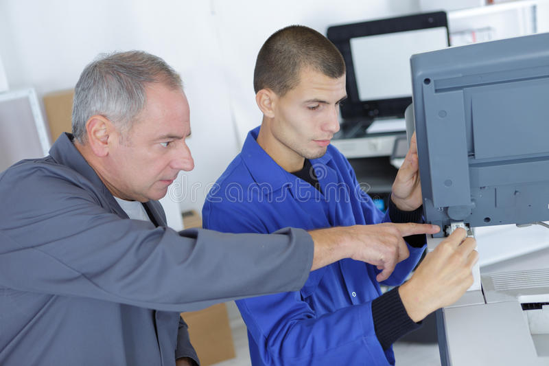 Precise fixing appliance. Precise fixing of the appliance royalty free stock photo
