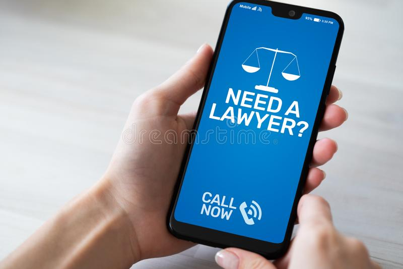 Precise um advogado de Advocacy do advogado na consulta da lei imagens de stock