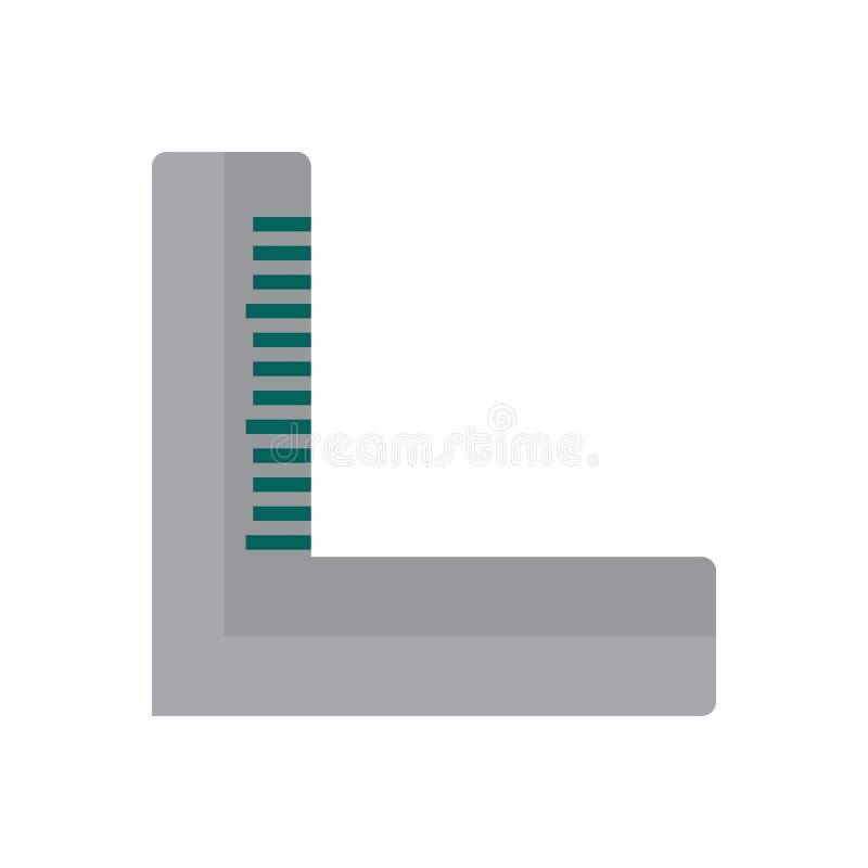 Precisie vierkant vlak pictogram, gevuld vectorteken, kleurrijk die pictogram op wit wordt geïsoleerd vector illustratie