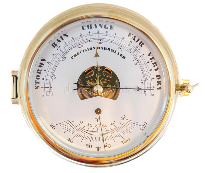 Precision Barometer stock image