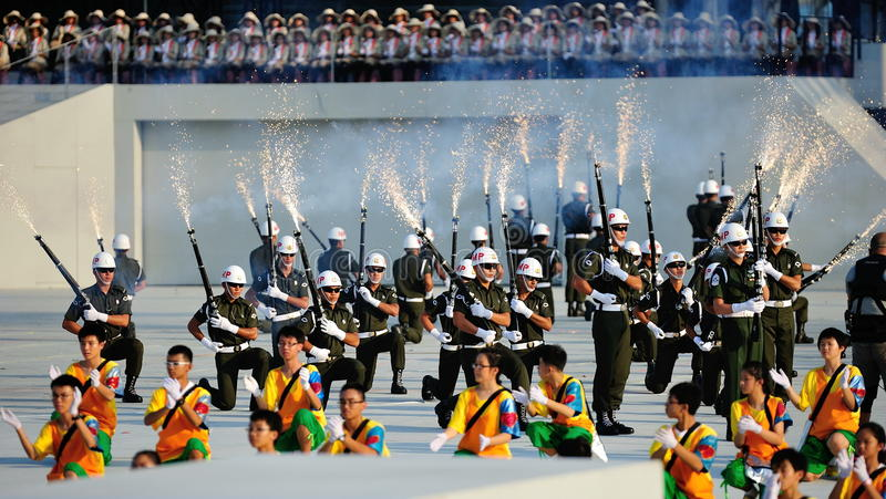 Precision drill by the military police during NDP