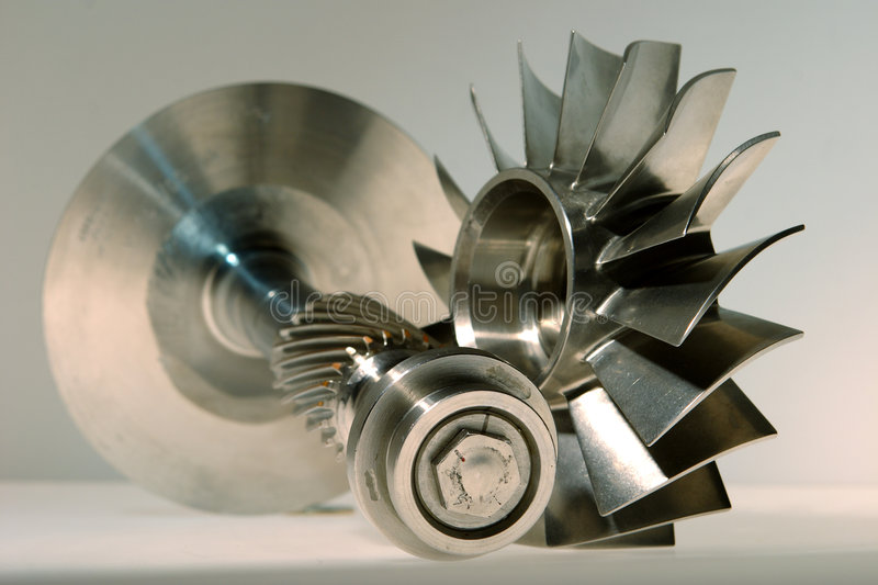 Precision engineered turbine. S made from stainless steel royalty free stock image