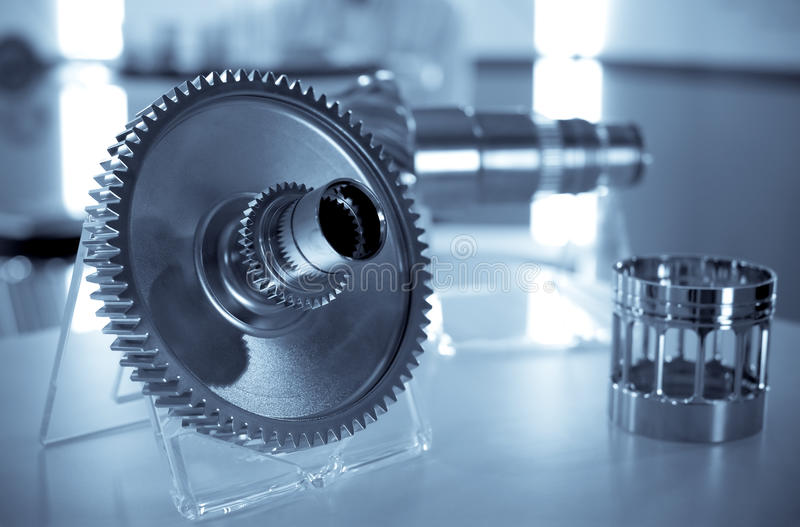 Precision engineering. Parts as used in the avation industry stock image