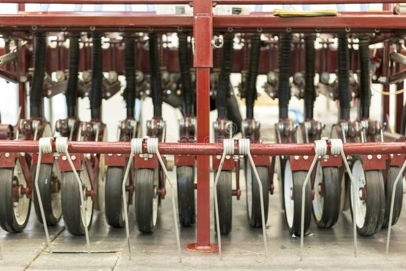 Precision inline seeder. A row seeder. Seed drill. Fragment. Precision inline seeder. A row seeder. Seed drill. Fragment royalty free stock photography