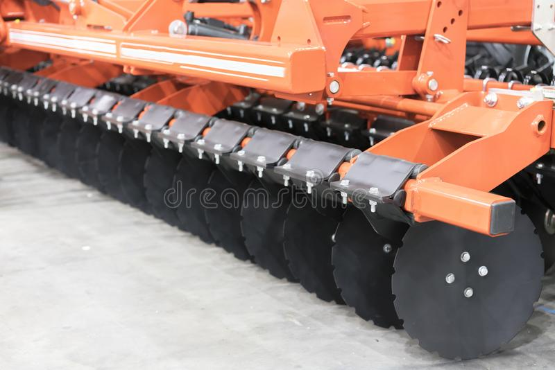Precision inline seeder. A row seeder. Seed drill. Fragment. Precision inline seeder. A row seeder. Seed drill. Fragment royalty free stock images