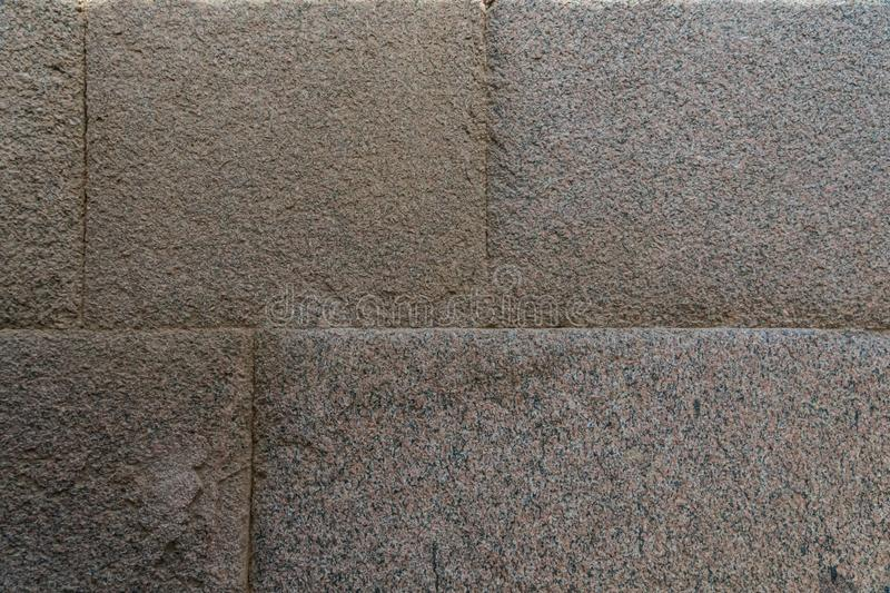 Precision and perfection in the union of the stones of the Pyramids of Egypt stock photo