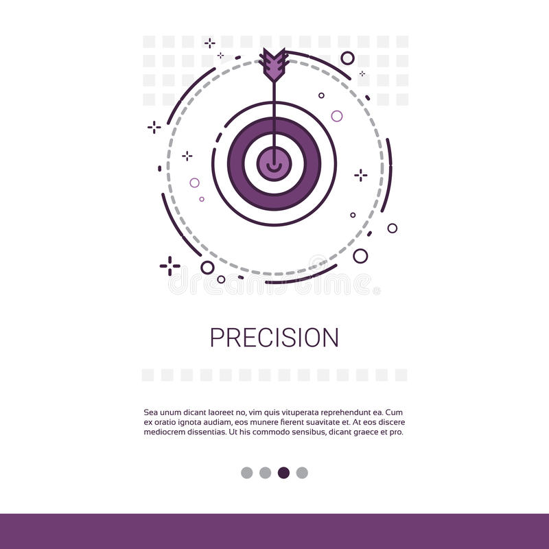 Precision Target Arrow Get Aim Business Web Banner With Copy Space stock illustration