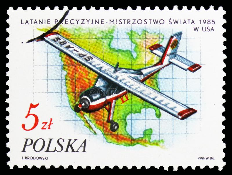 Precyzji latanie, Floryda, W Nycz, sukcesy Polscy sportowowie w 1985 seria około 1986, obrazy stock