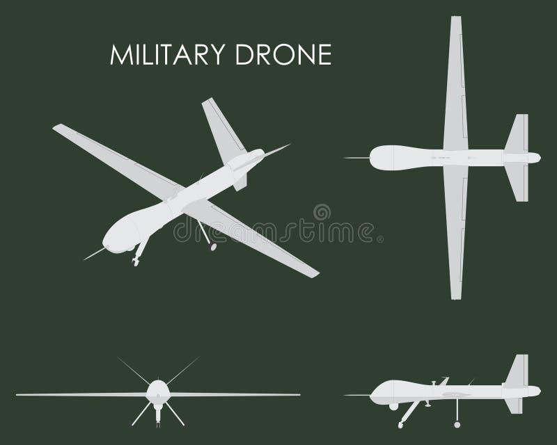 Predador militar do zangão ilustração do vetor