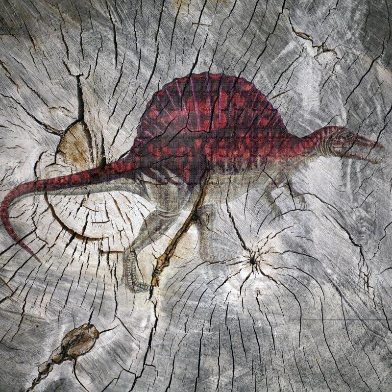 Predador pré-histórico ilustração stock