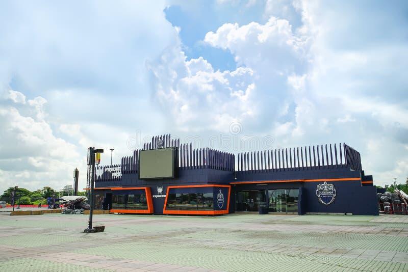 Predator Arena, a arena de competição da equipe da Buriram United E-Sport foto de stock royalty free