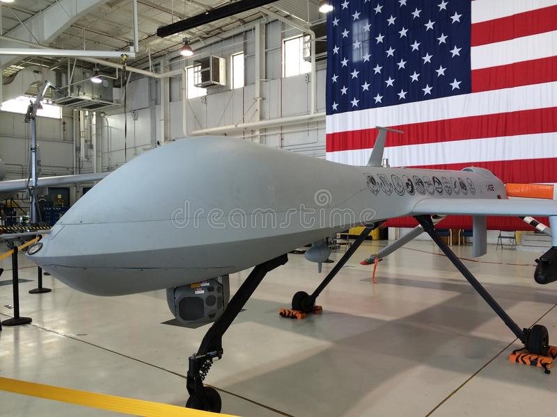 Predator drone. At the whiteman air force base royalty free stock photos