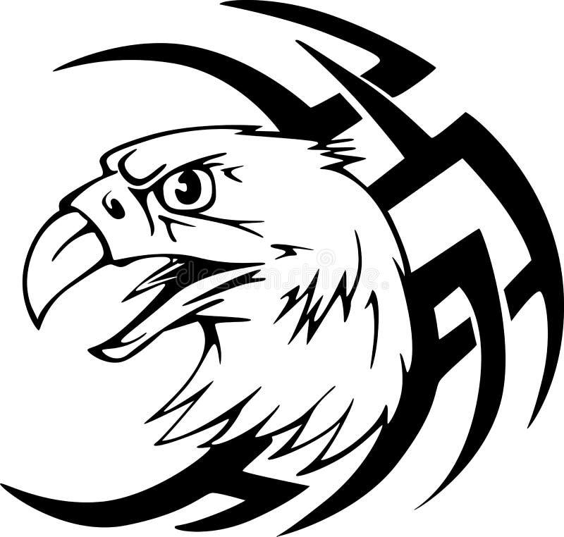 Predator eagle head tattoo stock vector. Illustration of terrible ...