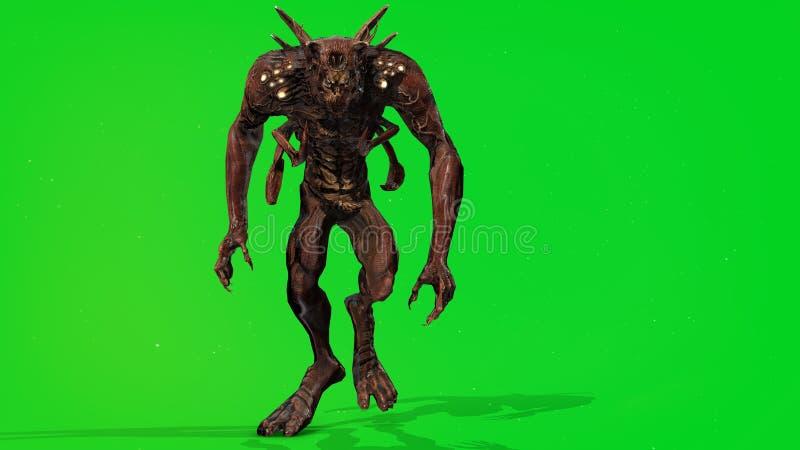 Predator mutant 3d render. Nuclear post-apocalypse predator mutant soldier 3d render vector illustration