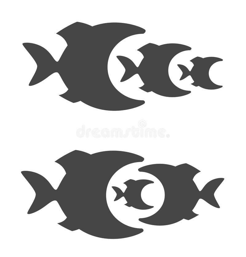predatory fisk stock illustrationer