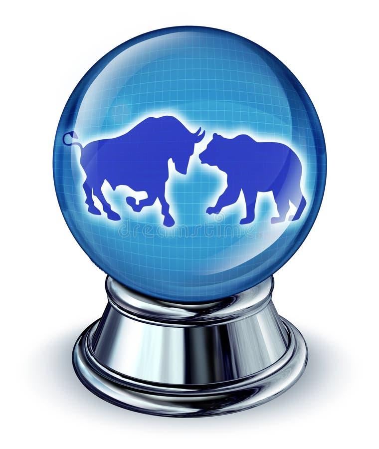 Predições do mercado de valores de acção ilustração do vetor