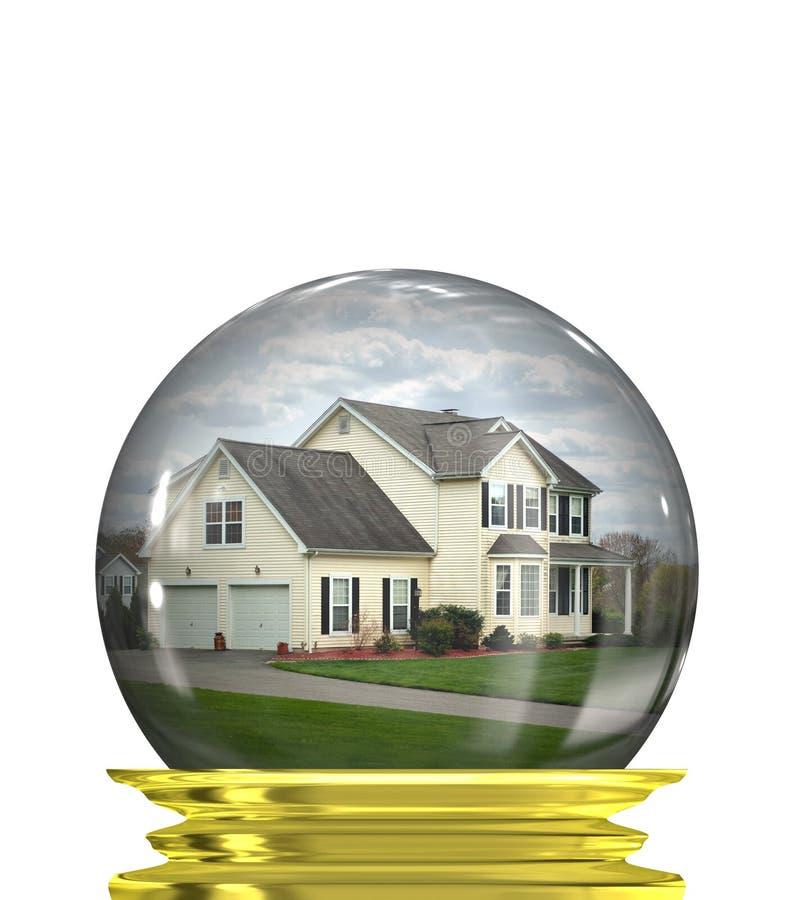 Predições do mercado imobiliário ilustração royalty free