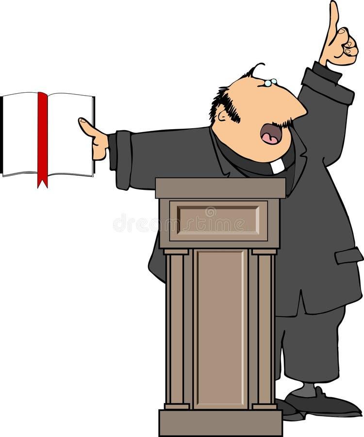 Predicador stock de ilustración