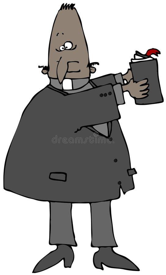 Predicador con una biblia ilustración del vector