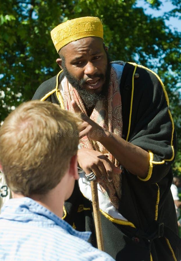 Predicador islámico foto de archivo