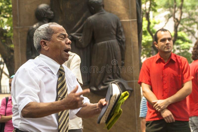 Predicatore evangelico fotografie stock libere da diritti