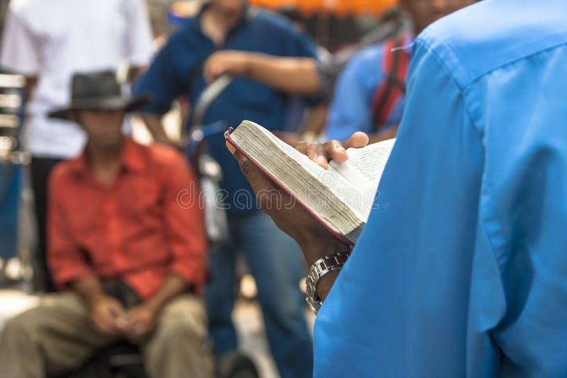 Predicatore evangelico fotografia stock libera da diritti