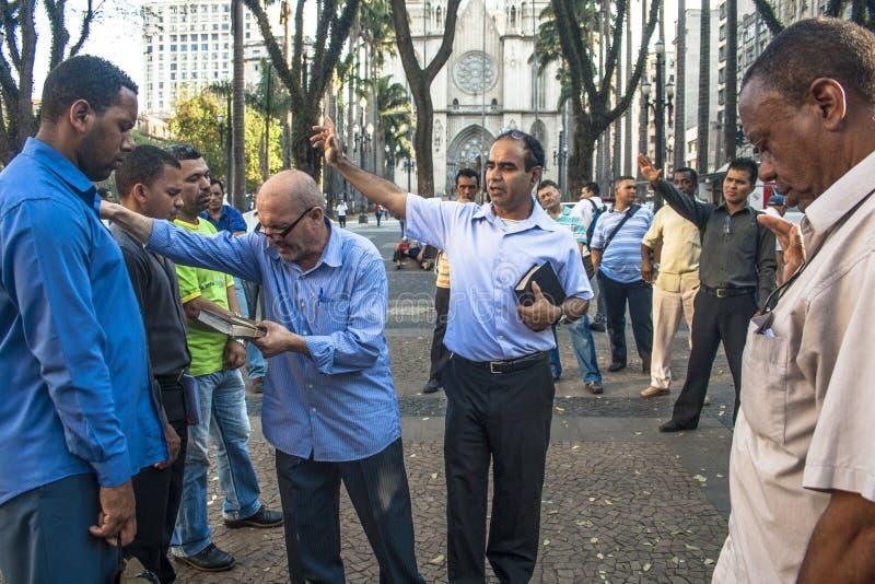 Predicatore evangelico fotografia stock